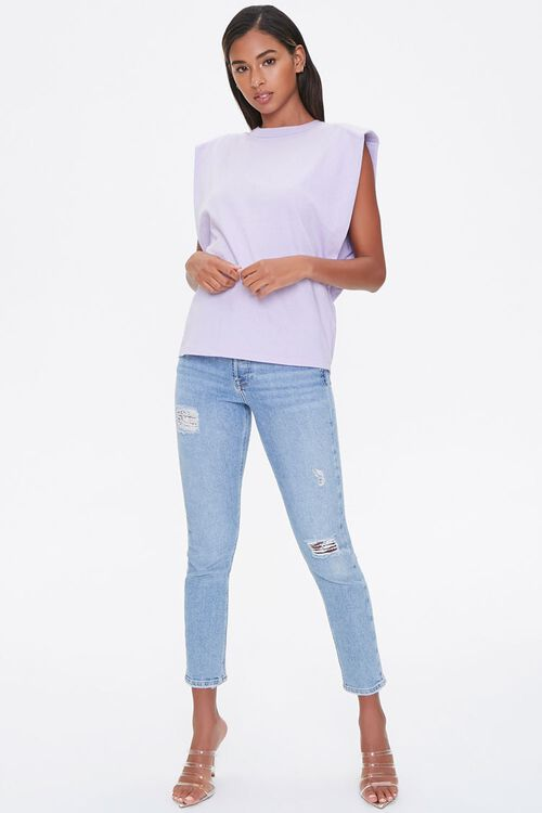 Cotton Shoulder-Pad Muscle Tee, image 4