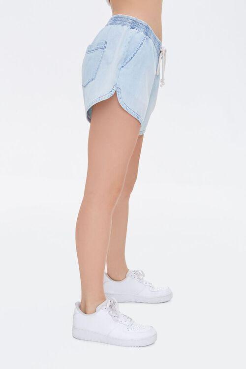 Denim Drawstring Dolphin Shorts, image 3