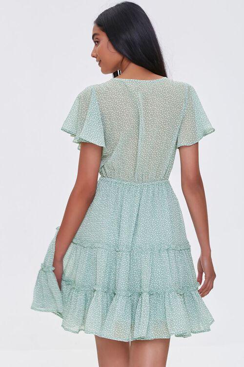 MINT/CREAM Tiered Speckle Print Mini Dress, image 3