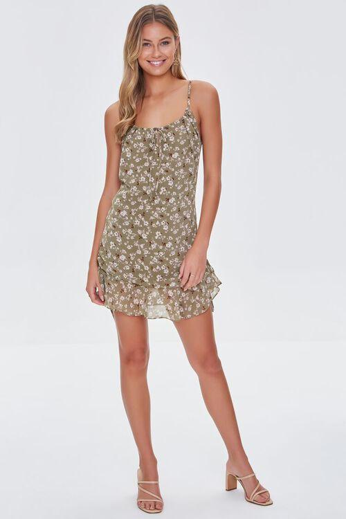 Floral Print Cami Dress, image 4