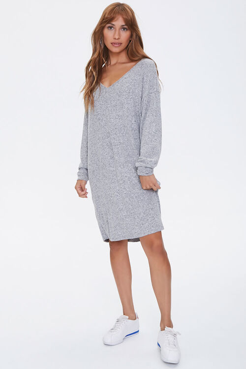 Marled Shift Mini Dress, image 4