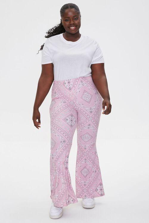 Plus Size Harper Paisley Print Pants, image 1