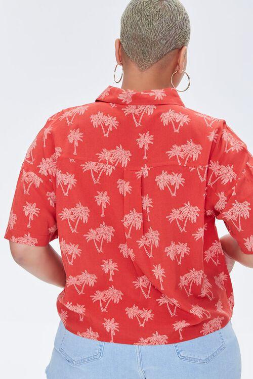Plus Size Palm Tree Print Shirt, image 4