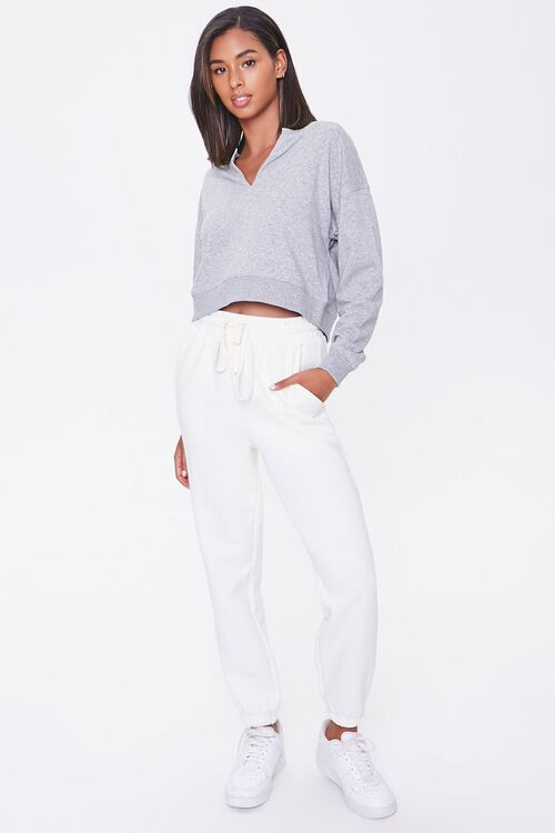 Split-Neck French Terry Pullover, image 4