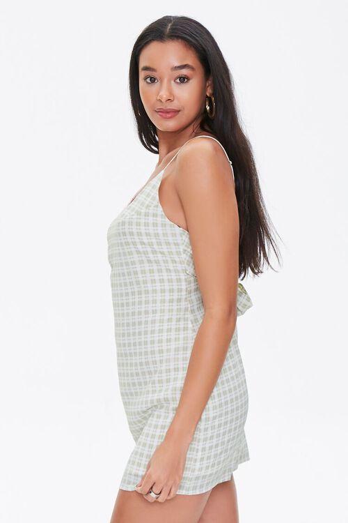 Plaid Mini Cami Dress, image 2