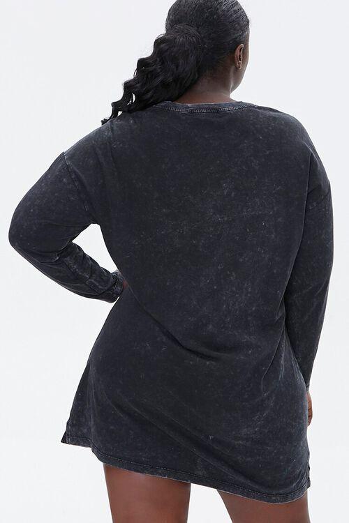 Plus Size Good Vibes Graphic T-Shirt Dress, image 3