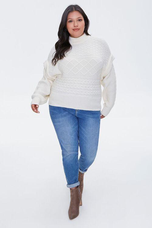 Plus Size Layered Mock Neck Sweater, image 4