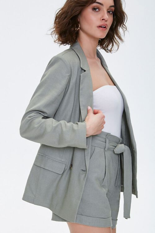 Double-Breasted Linen Blazer, image 2