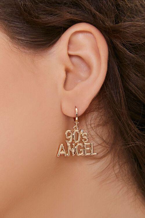 GOLD 90s Angel Drop Earrings, image 1