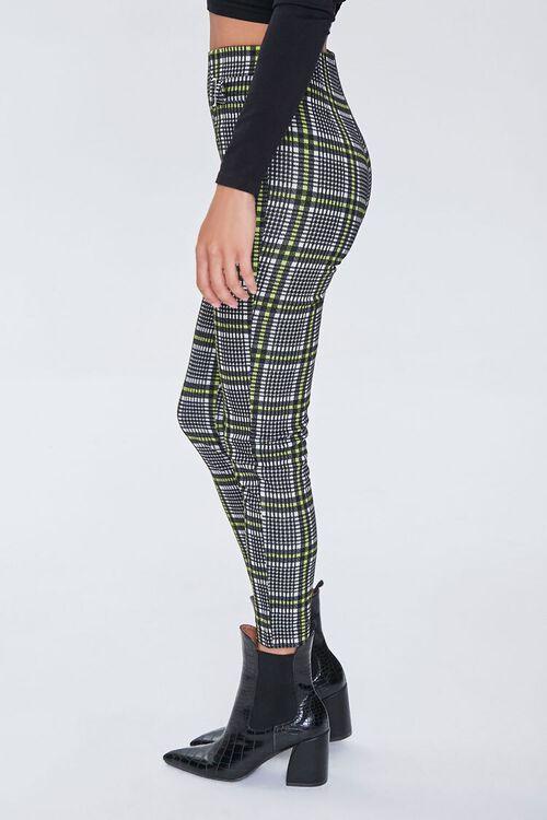 GREY/MULTI Glen Plaid D-Ring Ankle Pants, image 2