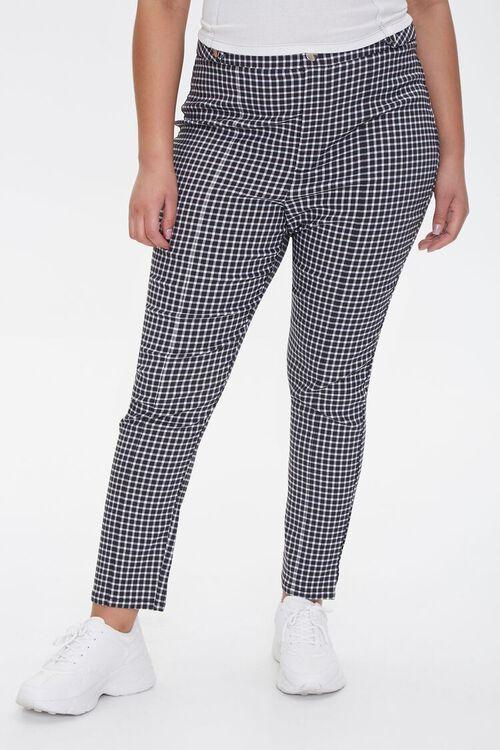 Plus Size Gingham Skinny Pants, image 2