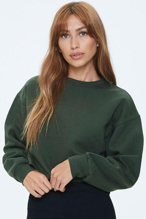 Fleece Drop-Sleeve Sweatshirt, image 1