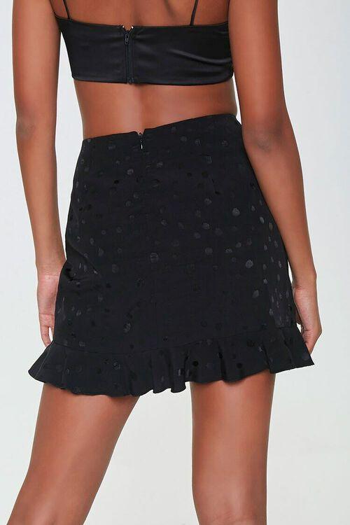 BLACK Ruched Ruffle-Hem Skirt, image 3