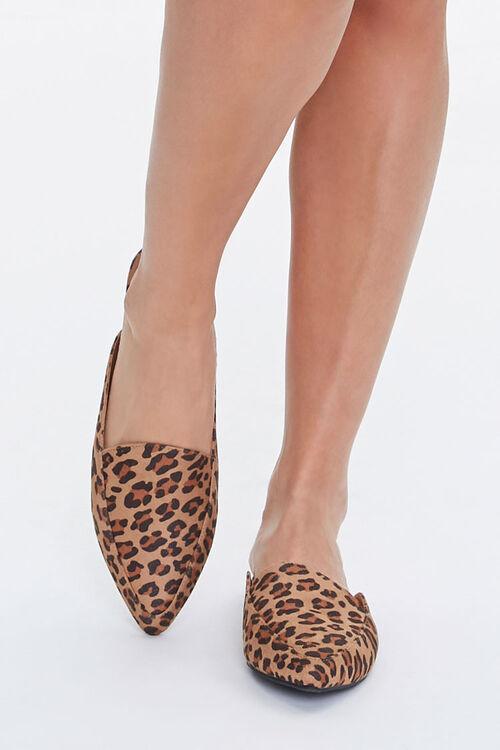 Leopard Print Loafer Mules, image 4