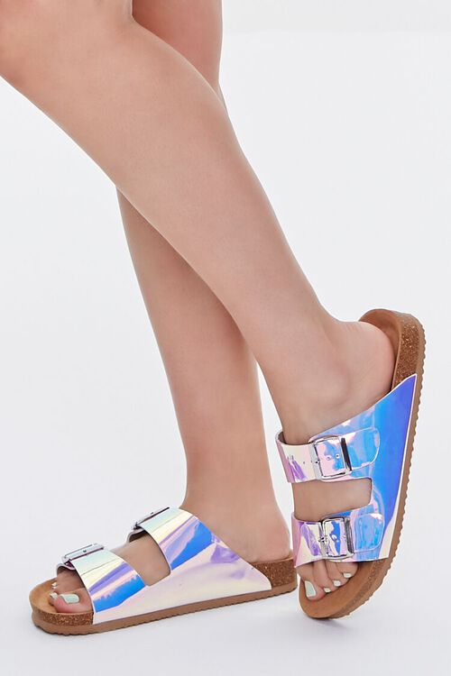 Iridescent Buckled Sandals, image 1