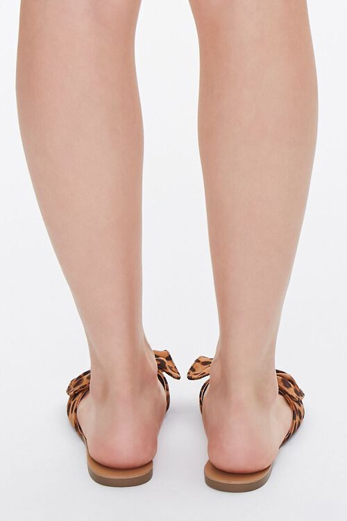 Knotted Leopard Print Sandals, image 3
