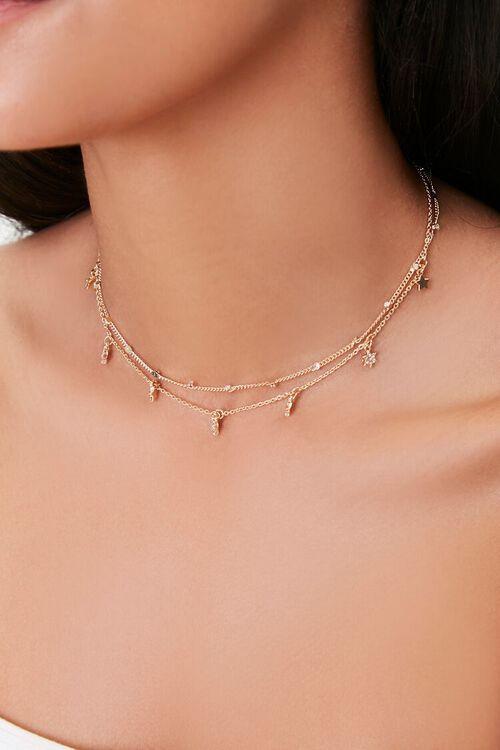 Star Charm Choker Necklace Set, image 1