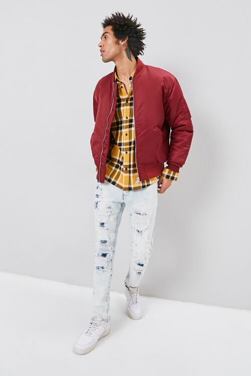 Bleached Distressed-Panel Skinny Jeans, image 4