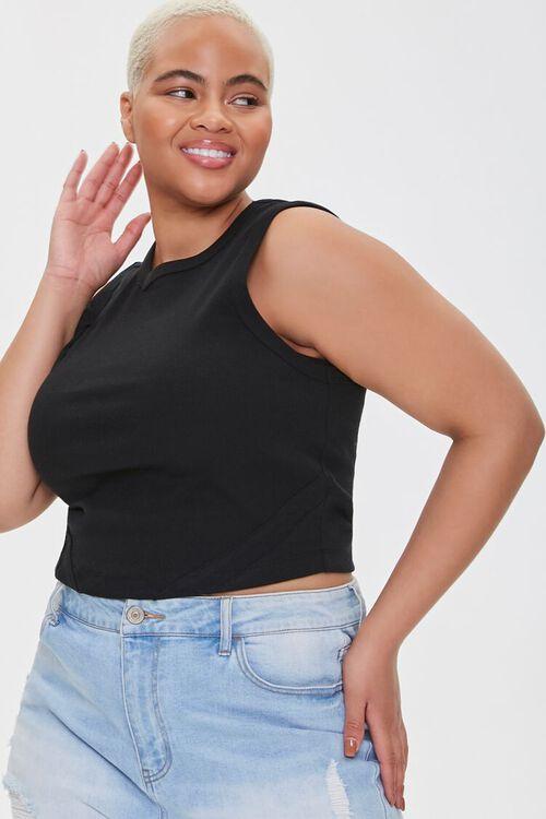 Plus Size Cotton-Blend Tank Top, image 1