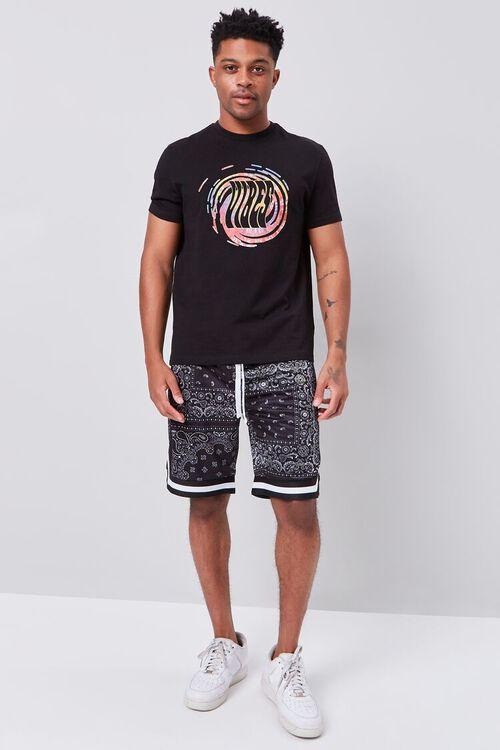 Bandana Print Drawstring Shorts, image 5