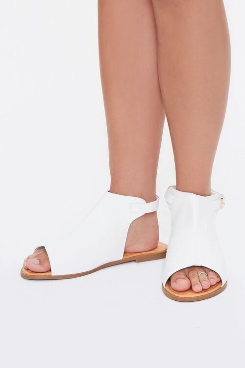 Faux Leather Cutout Sandals, image 4