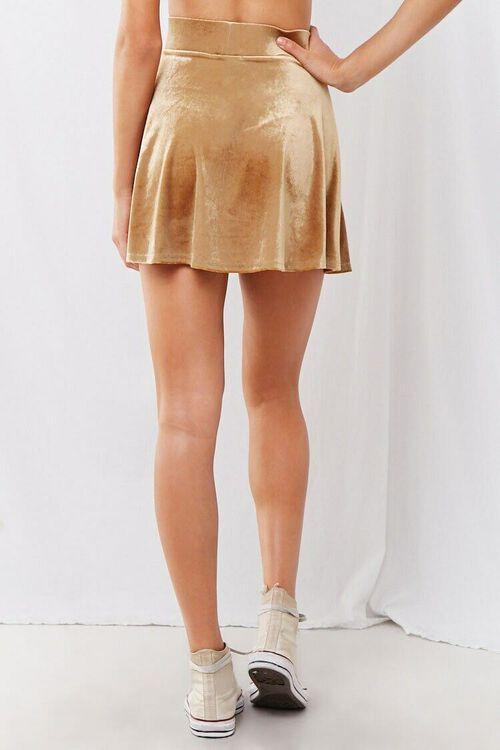 Velvet Mini Skater Skirt, image 3