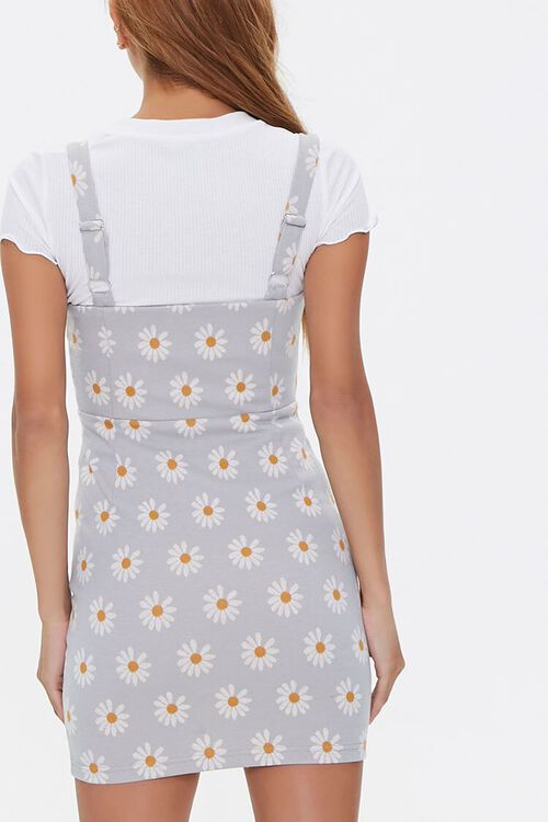 Daisy Print Overall Dress, image 3