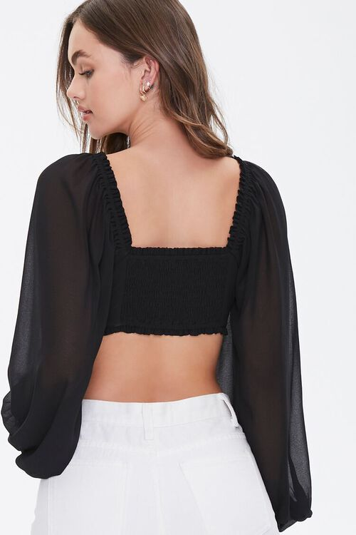 Ruffle-Trim Crop Top, image 3