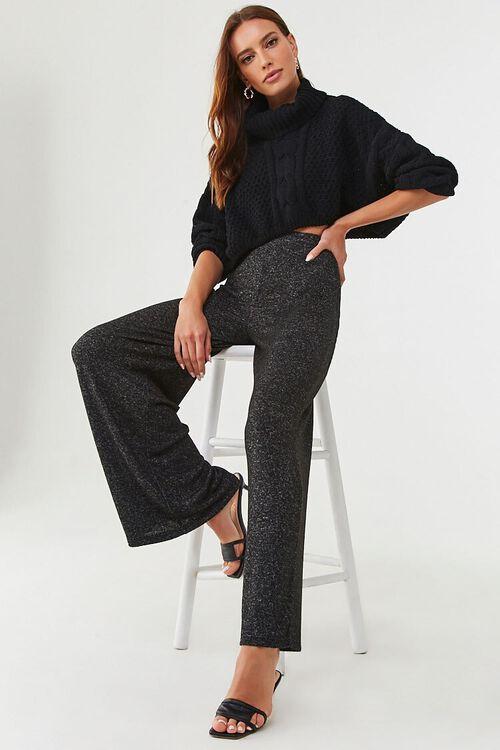CHARCOAL Wide-Leg Fleece Sweatpants, image 5