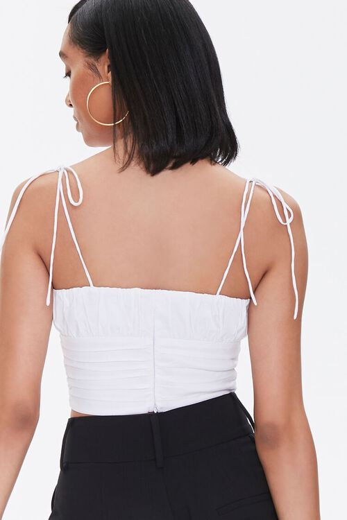 WHITE Tie-Strap Cropped Cami, image 3