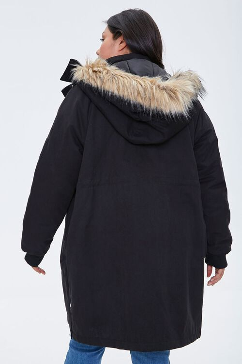 Plus Size Faux Fur-Trim Parka, image 3