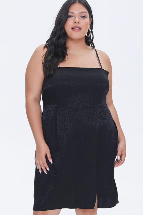 Plus Size Jacquard Cami Dress, image 1