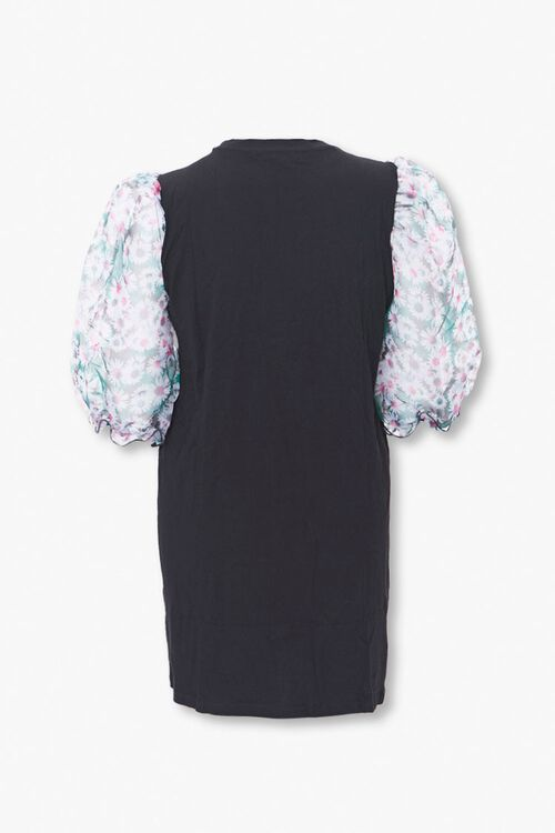 Plus Size Floral Puff Sleeve Dress, image 2