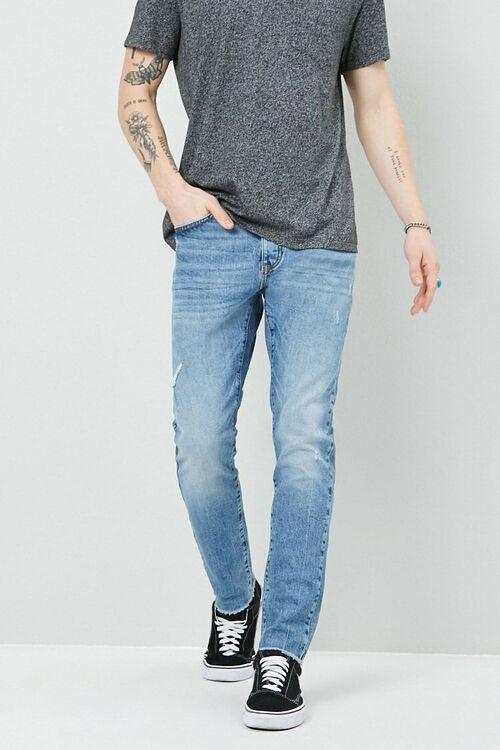 Lightly Distressed Slim-Fit Jeans, image 1