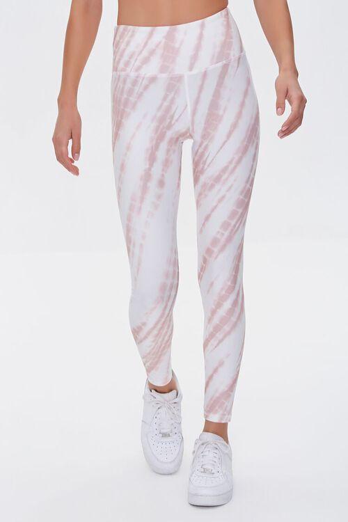ROSE/WHITE Active Tie-Dye Leggings, image 2