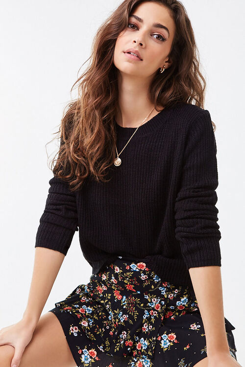 Ribbed Lace-Up Sweater, image 5