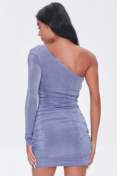 BLUE Ruched One-Shoulder Dress, image 3