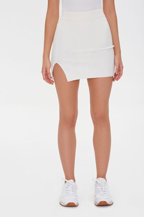 CREAM Wide-Ribbed Mini Skirt, image 2