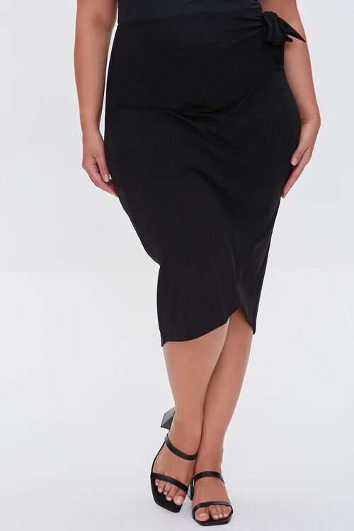 Plus Size Tulip-Hem Skirt, image 2