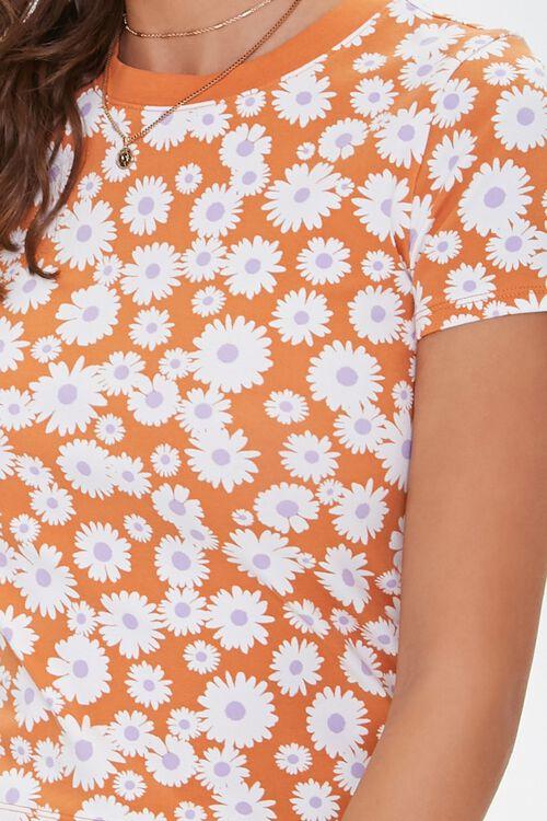 Form-Fitting Daisy Print Tee, image 5