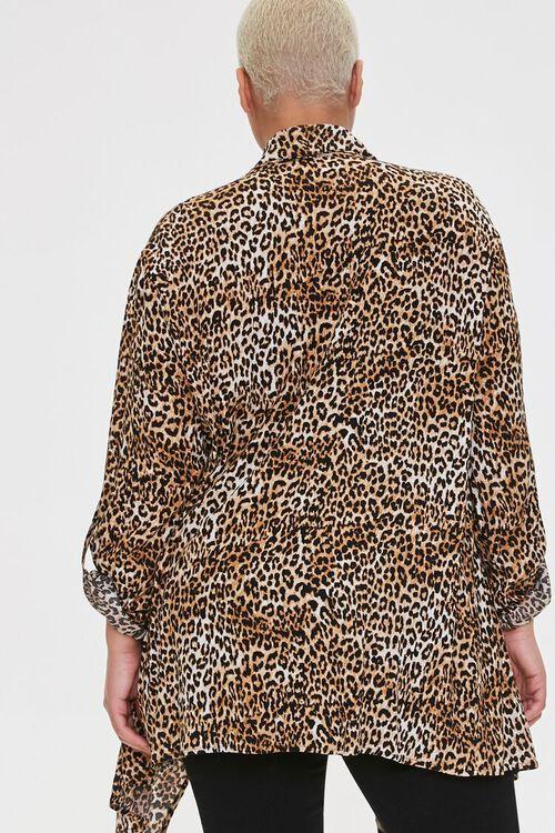 Plus Size Leopard Print Kimono, image 3
