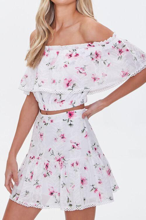 Floral Lace A-Line Skirt, image 1
