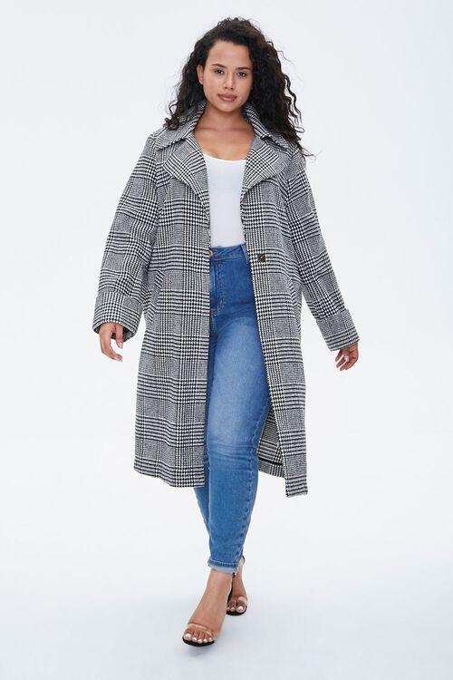 Plus Size Glen Plaid Coat, image 4