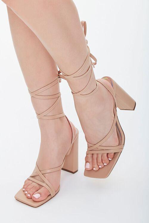 Strappy Wraparound Block Heels, image 1