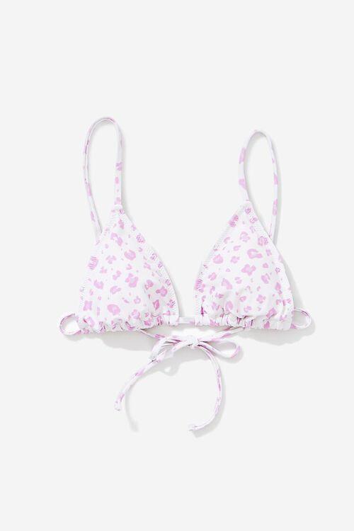 Leopard Print Triangle Bikini Top, image 1
