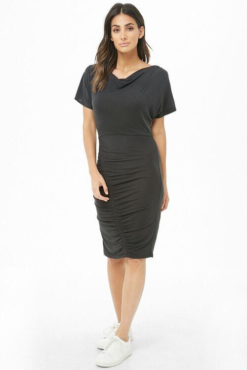 Ruched Knee-Length Dress, image 4