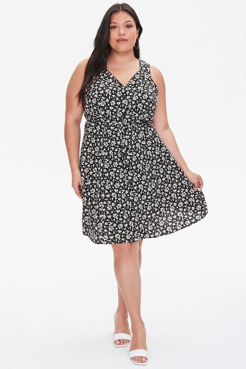 Plus Size Floral Print Mini Dress, image 4