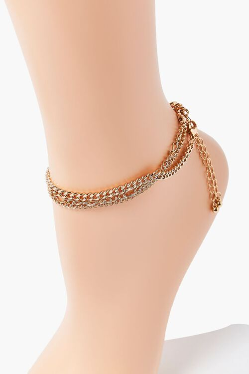 GOLD Chain Anklet Set, image 1