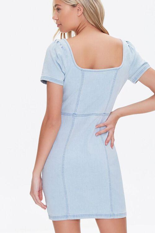 Zip-Front Denim Mini Dress, image 3