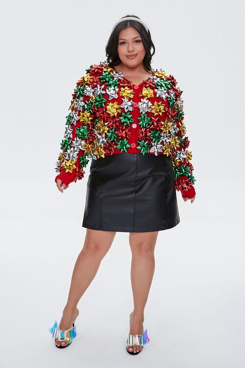 Plus Size Gift Topper Cardigan Sweater, image 5